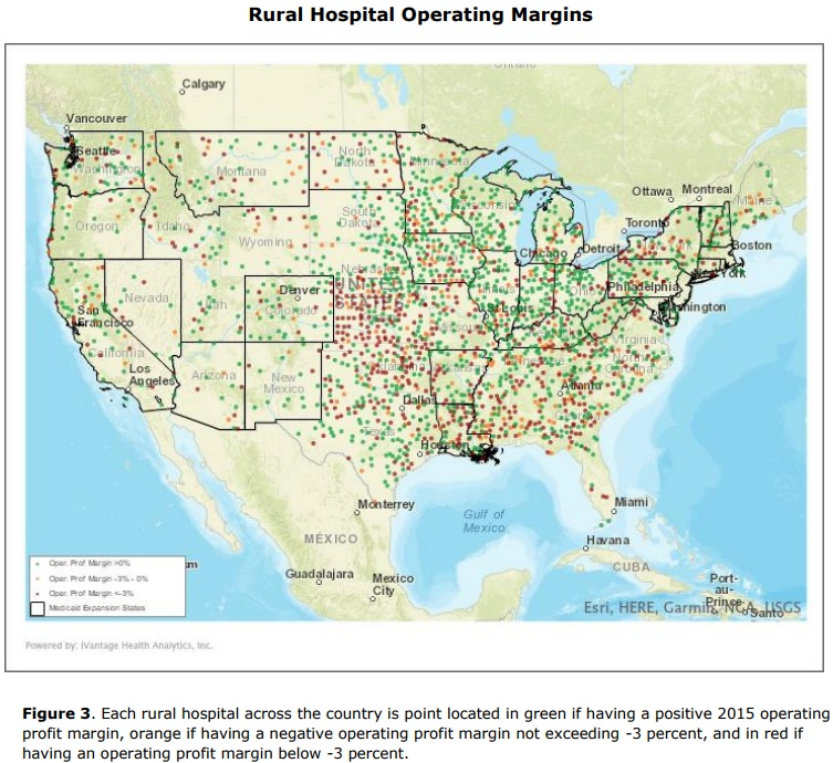 Map Of California Hospitals.41 Of Rural Hospitals Operating With Negative Margins
