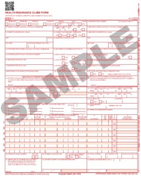 CMS_1500_Form_Sample  Claim Form Example on medical insurance, filling out hcfa, print cms, aflac hcfa, how fill out, medicare cms, electronic hcfa, ndc code, downloadable cms,